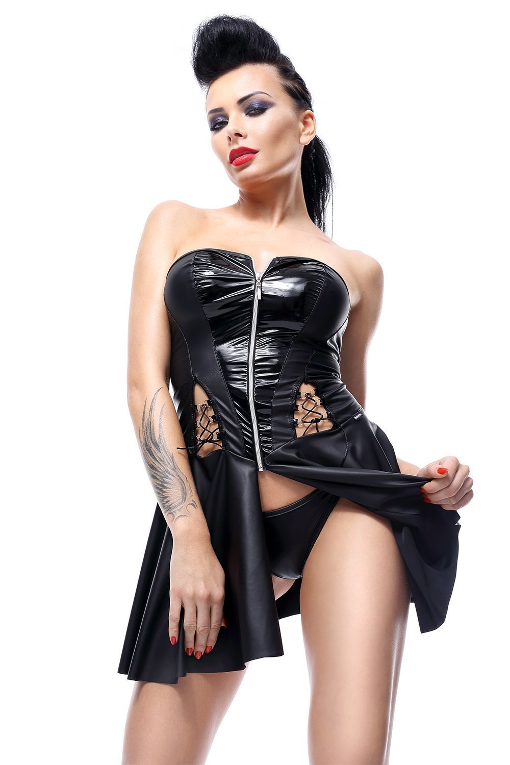 demoniq Dress UK 8 / Black Rita by Demoniq Hard Candy Collection