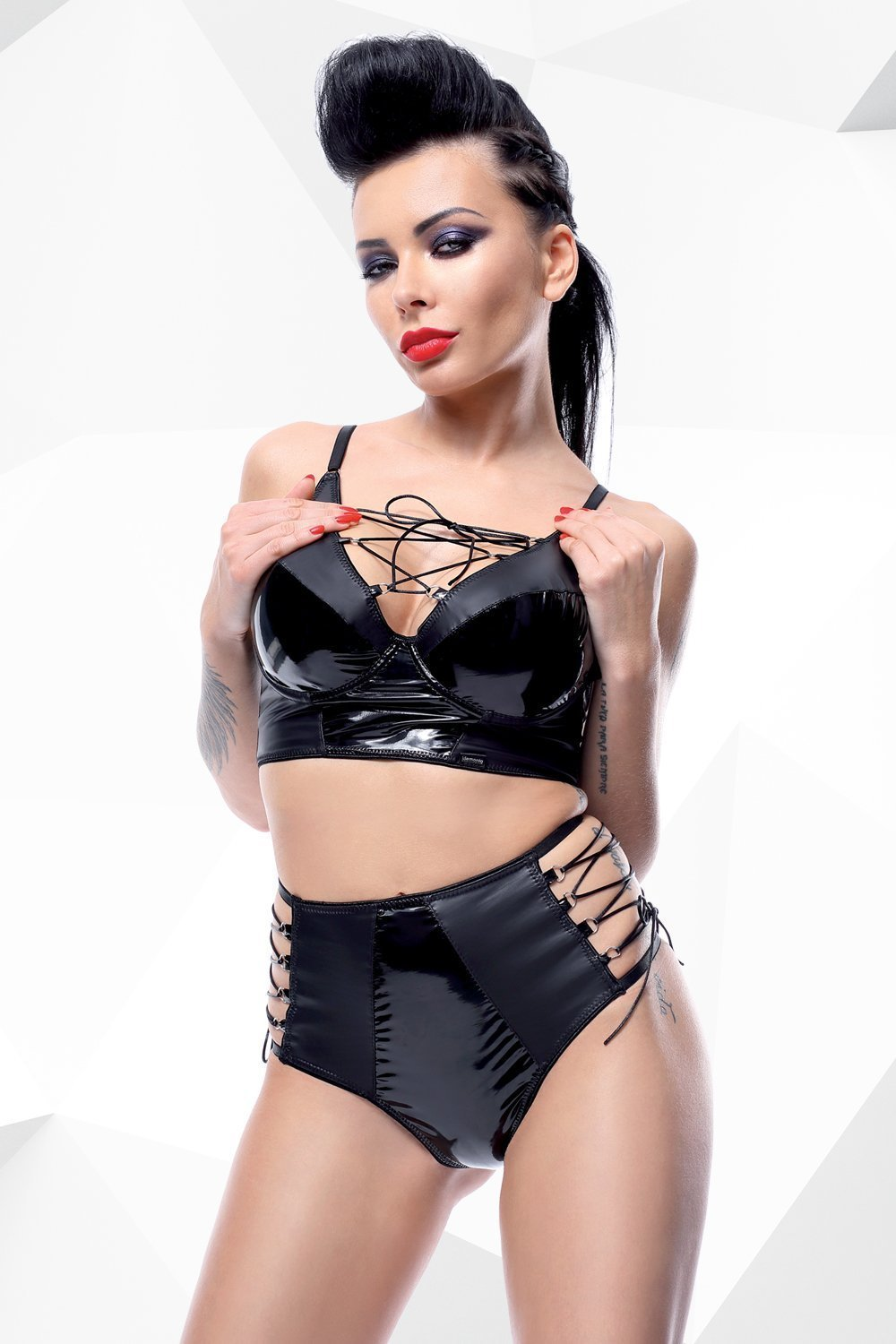 demoniq Lingerie Set UK 8 / Black Jessica by Demoniq Hard Candy Collection