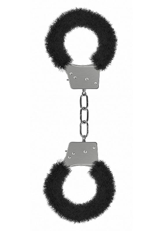 Diva's Closet  Hand Cuffs Beginners Handcuffs Furry Black