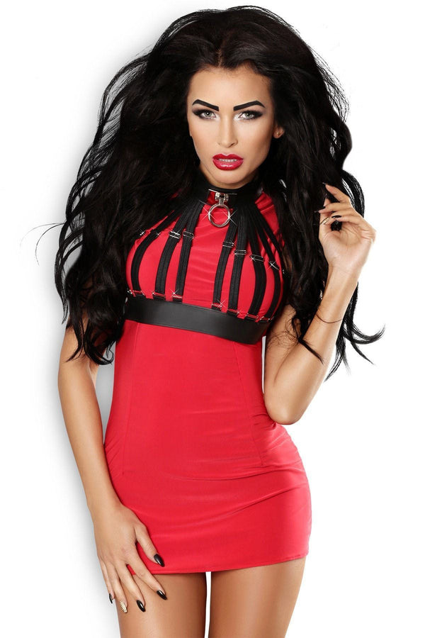 Masterpiece Red Mini Dress - Divas Closet