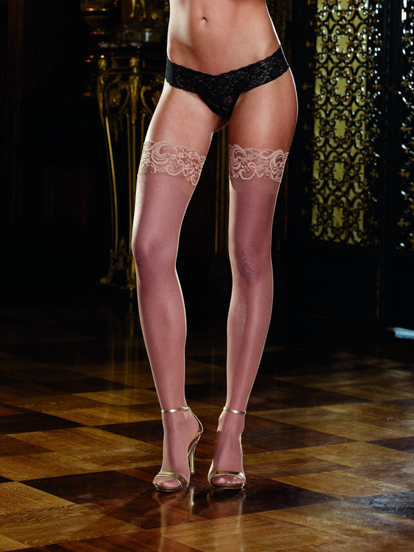 Dreamgirl Lace Top Sheer Hold Ups - Divas Closet