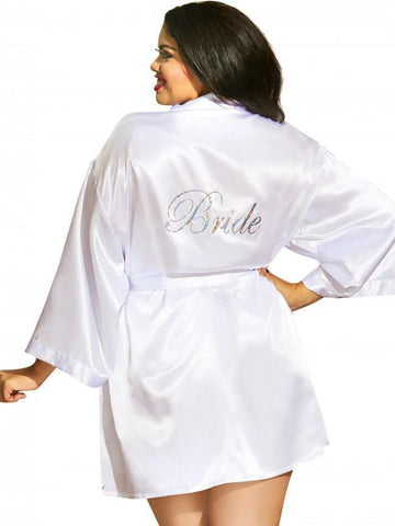 Dreamgirl robe Plus Size White Bride Babydoll and Robe