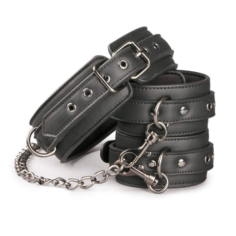 Easy Toys Fetish Collection collar Leather Collar With Anklecuff