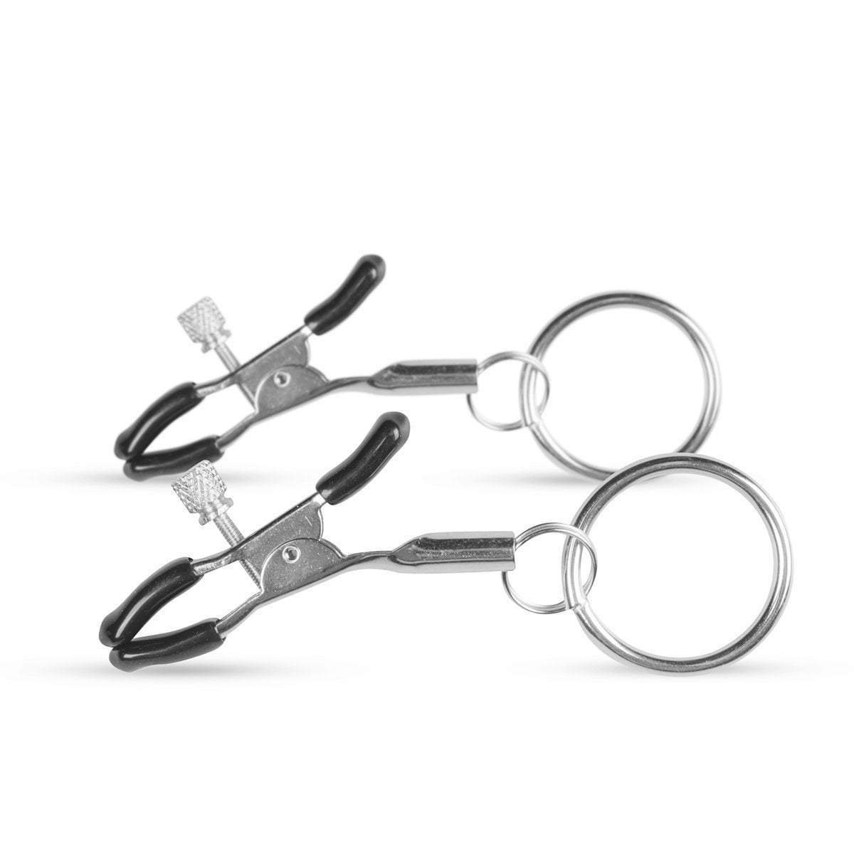 Easy Toys Fetish Collection nipple clamp Metal Nipple Clamps With Ring
