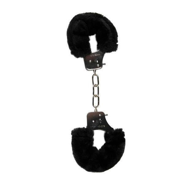 Easytoys Fetish Collection Hand Cuffs Furry Handcuffs - Black