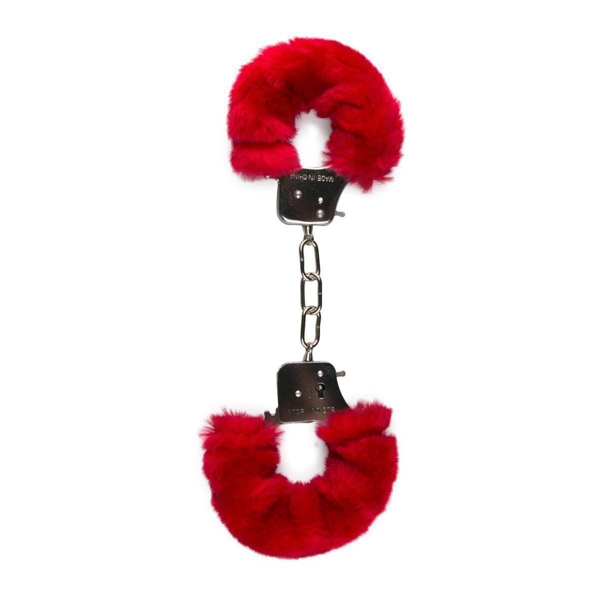 Easytoys Fetish Collection Hand Cuffs Furry Handcuffs - Red