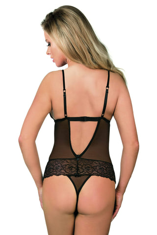 Excellent Beauty Body Tulle & Lace Black Body