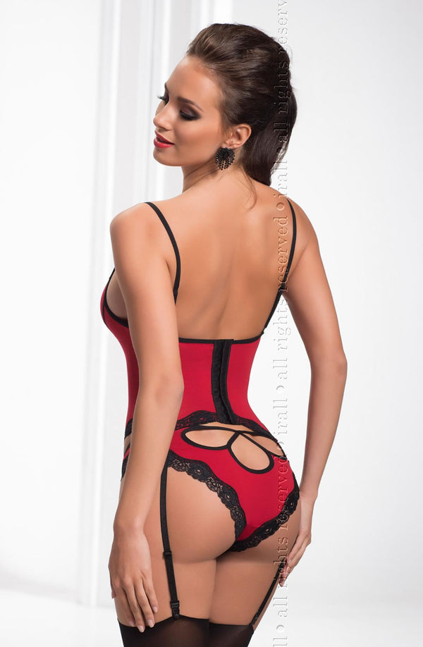 Fiona Red Corset And Panty Set Irall Erotic Back
