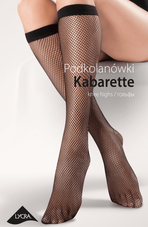 gabriella gabriella knee highs One Size / Black Fishnet Knee Highs Black