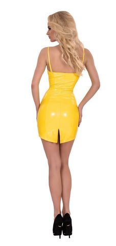 Guilty Pleasure Latex Clothing Datex Zip Up Front Dress