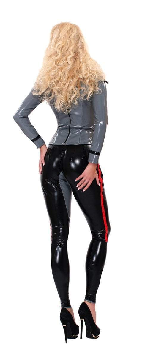 Guilty Pleasure Latex Clothing Grey Datex Sergeant Jacket