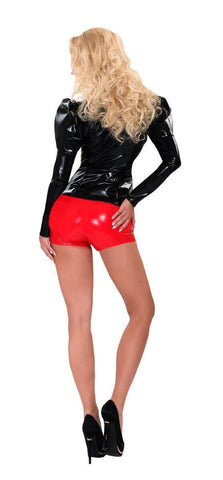 Guilty Pleasure Latex Clothing Red Datex Hotpants