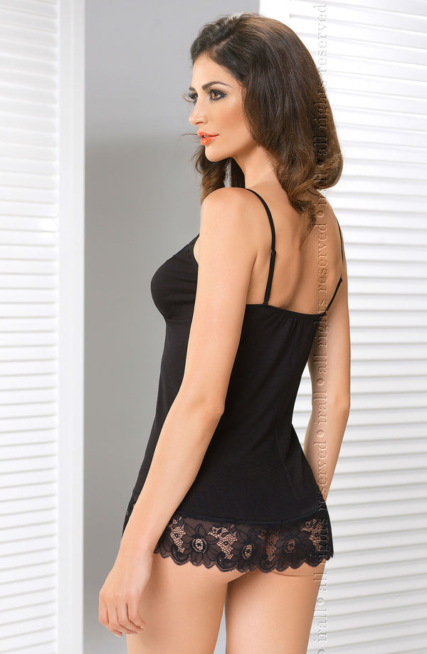 Irall Erotic Felicity Black Chemise Back
