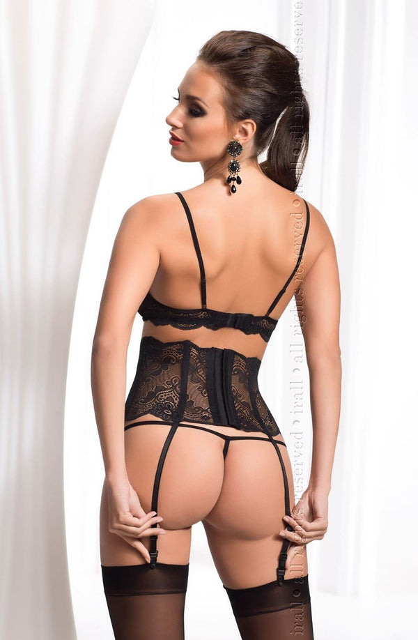 Irall Erotic Madison Black Lace Lingerie Set Back