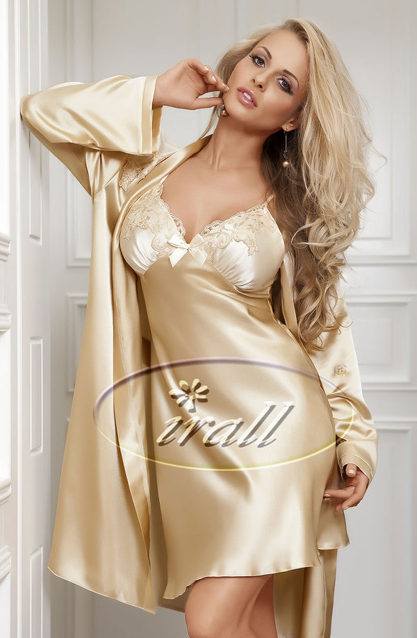Irall Parisa Beige Satin Nightdress
