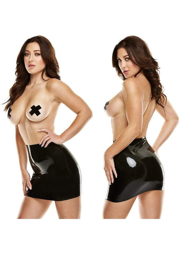 LATEXWEAR Black Latex Mini Skirt