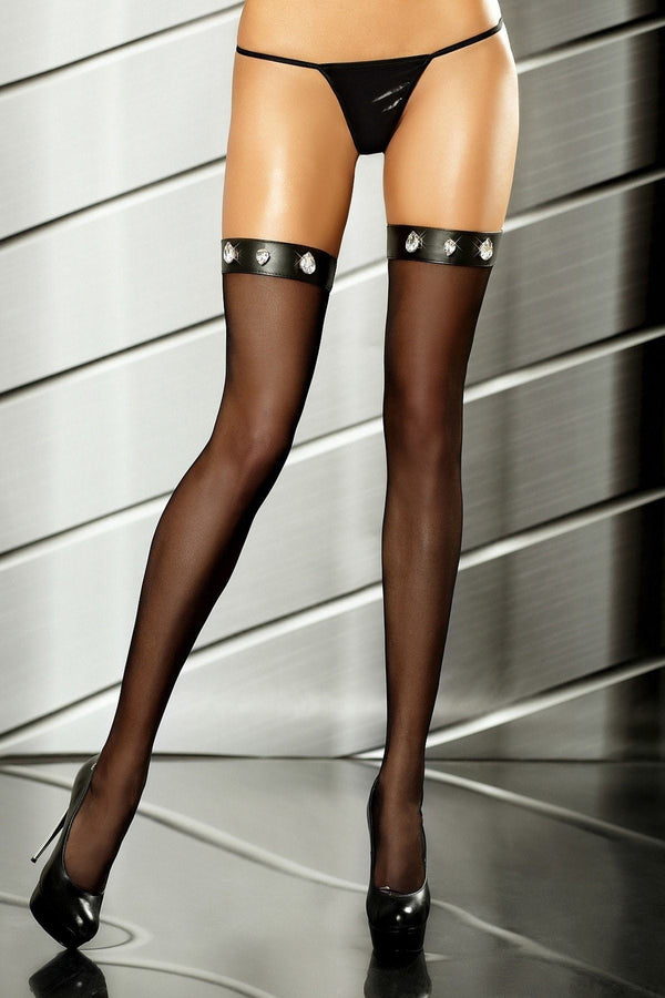Black Passionate Stockings by Lolitta - Divas Closet