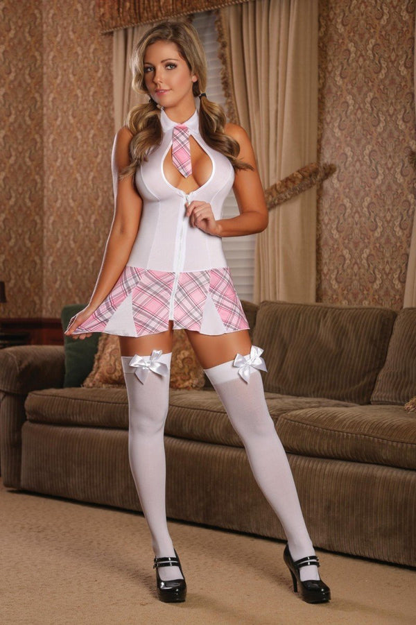 Magic Silk Costume UK 6-12 / Pink Magic Silk Very Private Schoolgirl