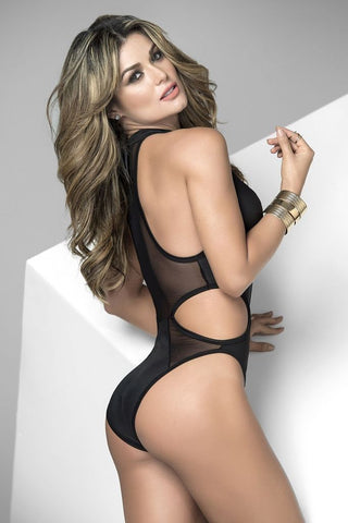 Mapale Body Mapale Cut Out Body Suit Black
