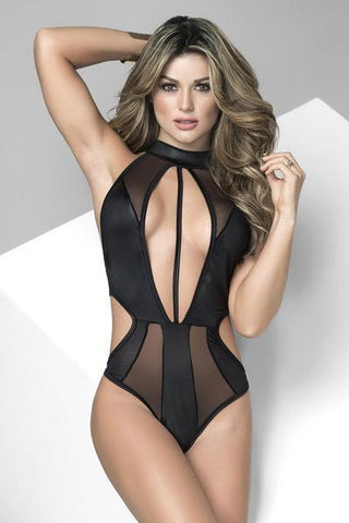 Mapale Body UK 6-8 / Black Mapale Cut Out Body Suit Black