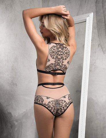 Mapale Mapale Lingerie Set Luxury High Waist 2 Piece Lingerie Set