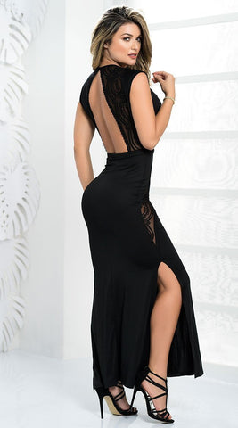 Mapale Mapale Nightgown Hidden Desires Black Gown