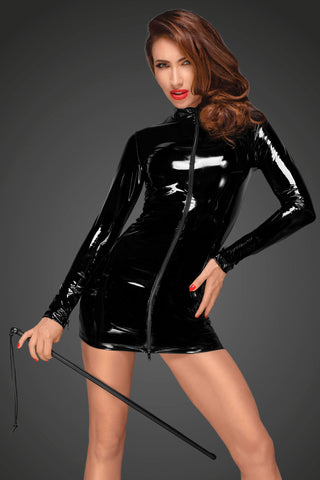 Noir Handmade dress Black PVC Mini Dress