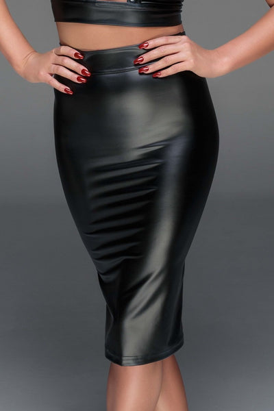 Noir Handmade skirt Power Wetlook Pencil Skirt F152 by Noir Handmade