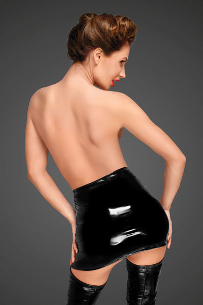 Noir Handmade Womens PVC Clothing F189 Black PVC Mini Skirt
