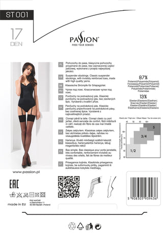 Passion Stocking Stockings ST001 Black