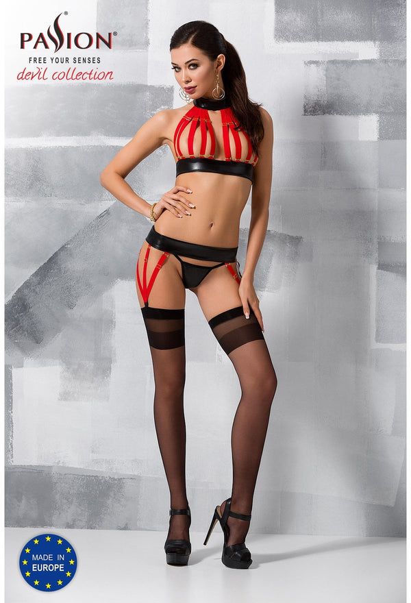 Aziza Red Lingerie Set
