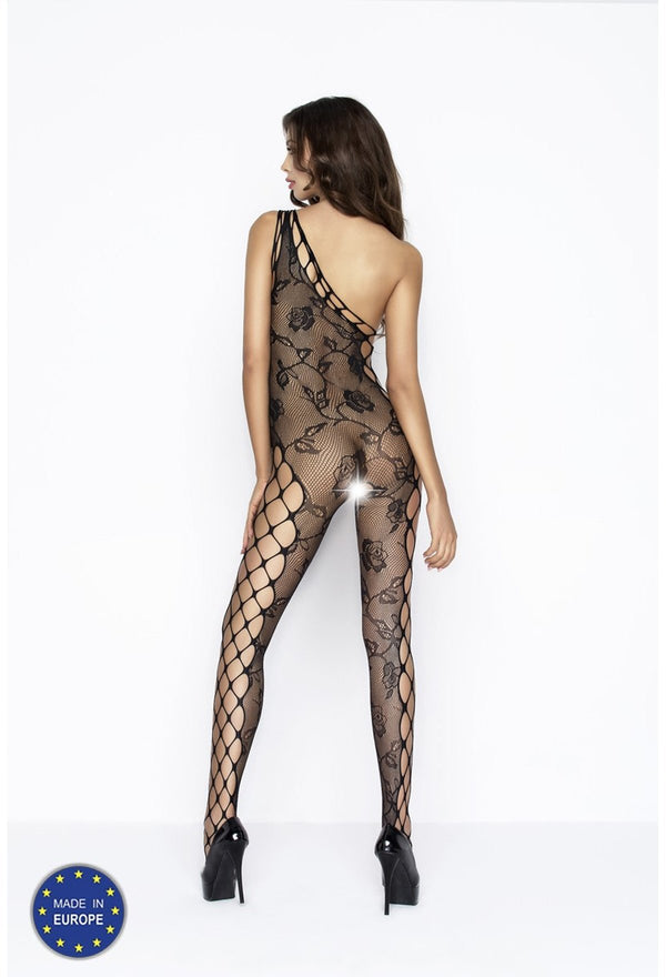 Off Shoulder Crotchless Bodystocking