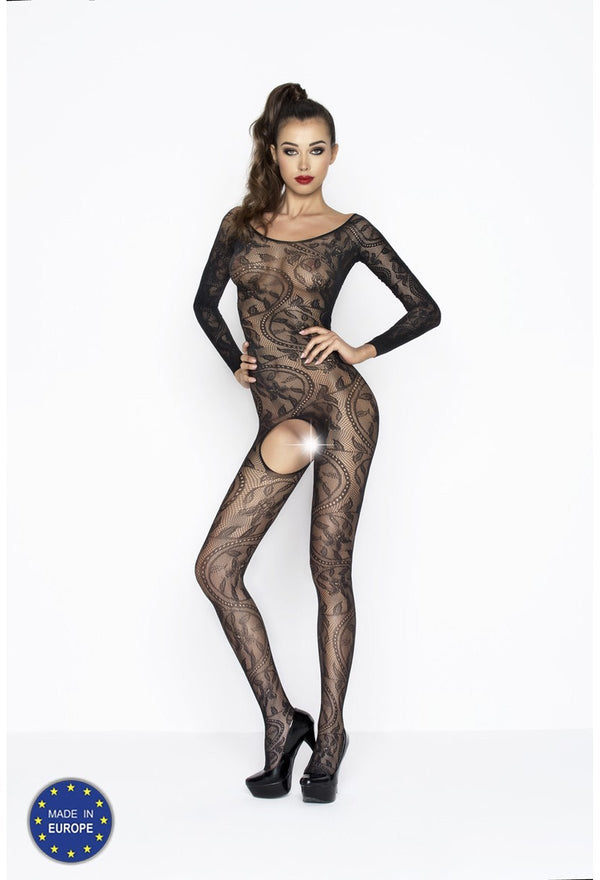 Long Sleeved Crotchless Bodystocking BS042