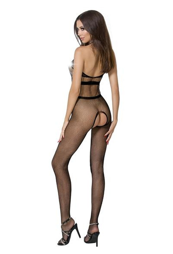 Crotchless Halterneck Bodystocking BS048