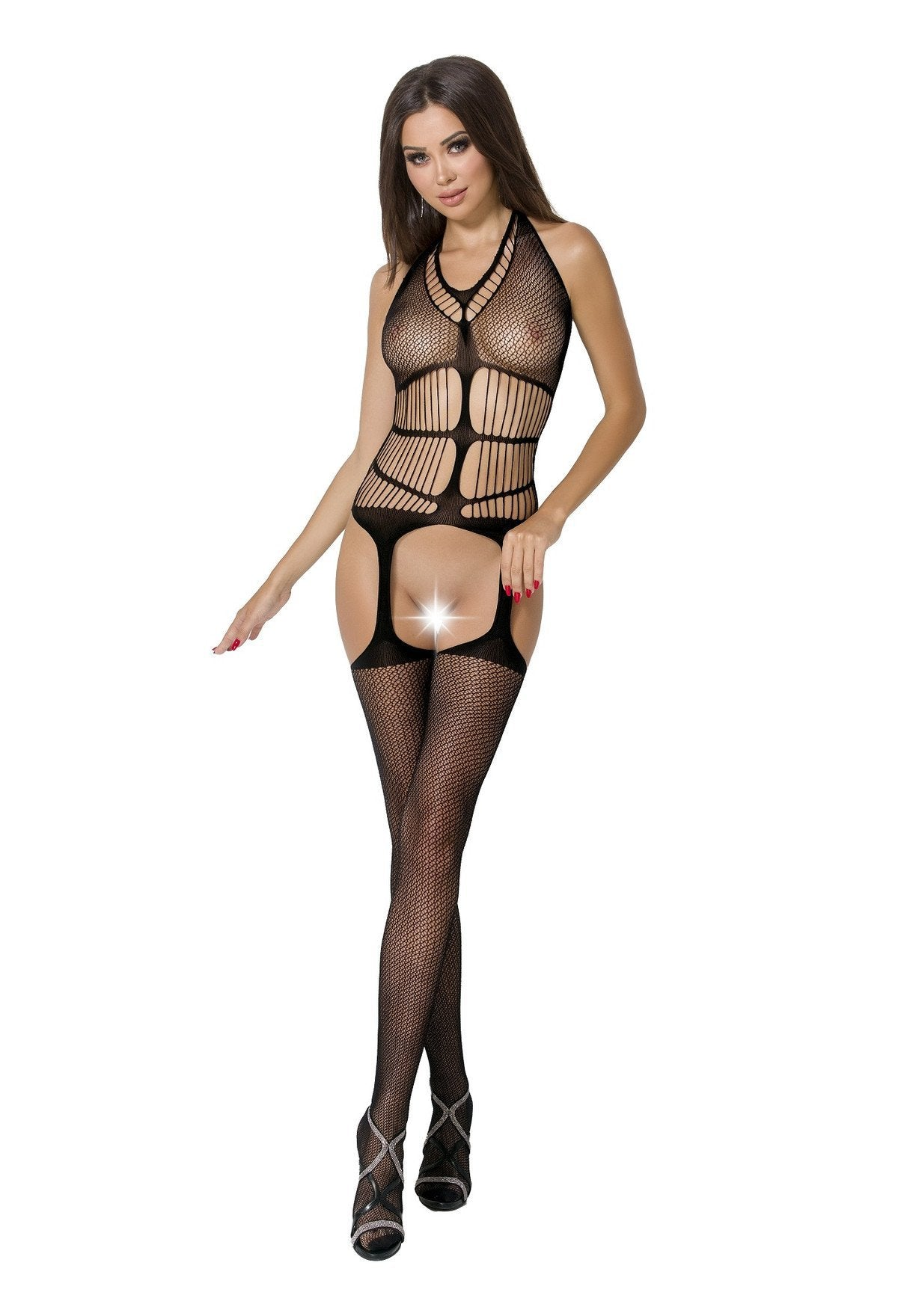 Passion Bodystocking BS049 black