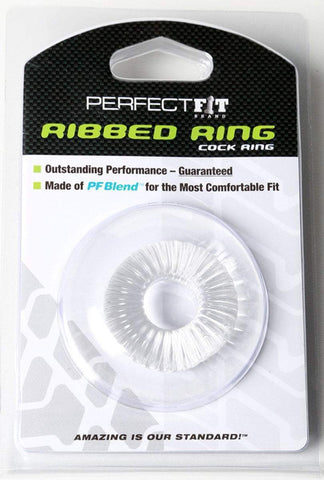 Perfect Fit cock ring Ribbed Ring - Clear