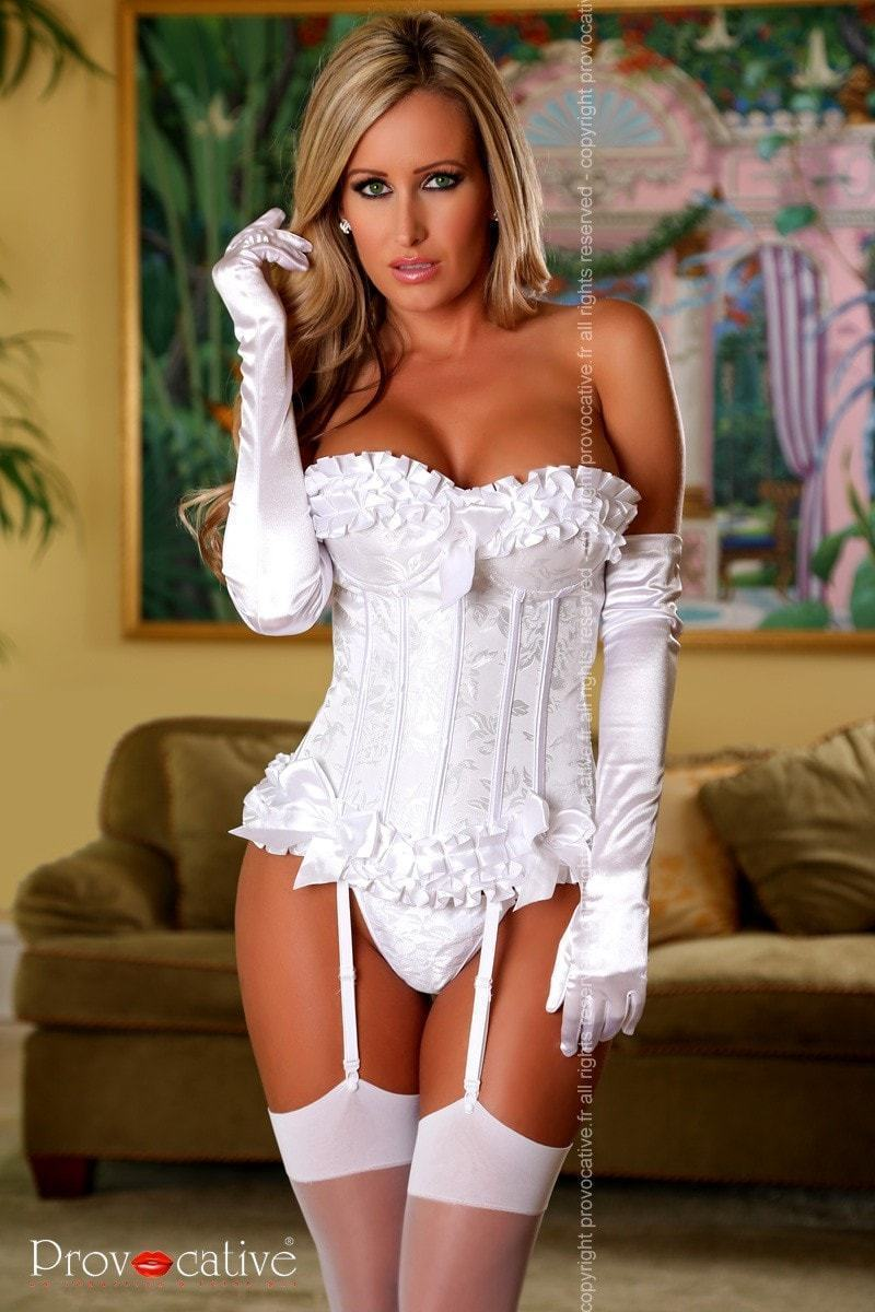 Provocative Magic Moments Corset Ivory - Divas Closet