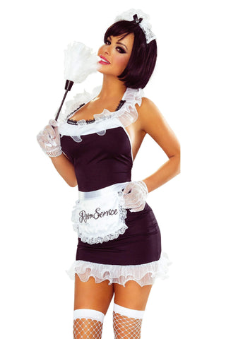 provocative dress up UK 8-12 Sexy French Maid 7 Piece Set