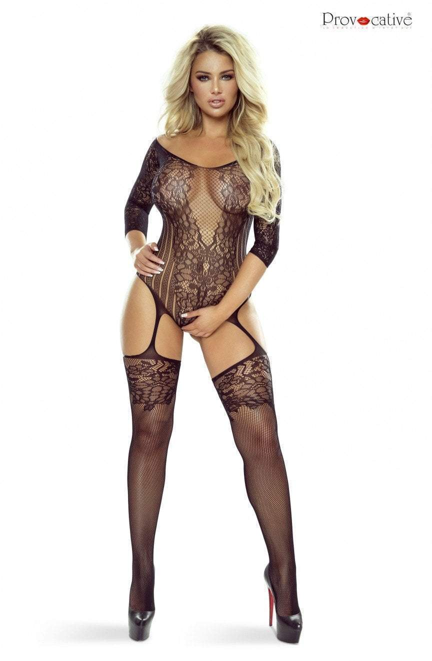 provocative Provocative Bodystocking One Size UK 8-14 / Black Black Suspender Bodystocking