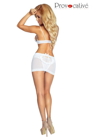 provocative Provocative Lingerie Set L'Eternelle 3 Piece White Lingerie Set