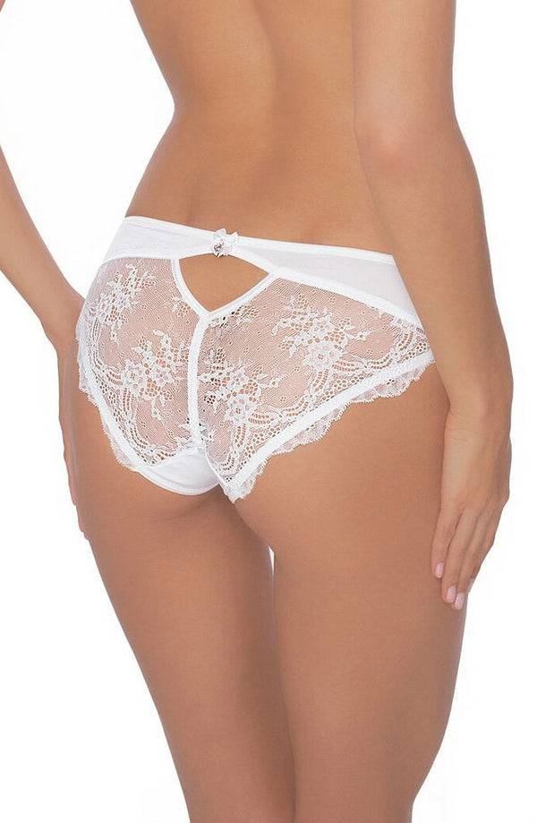 Roza Lingerie Ali White Floral Lace Brief