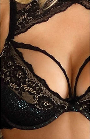 Roza Roza Bra Kena Black Push Up Bra