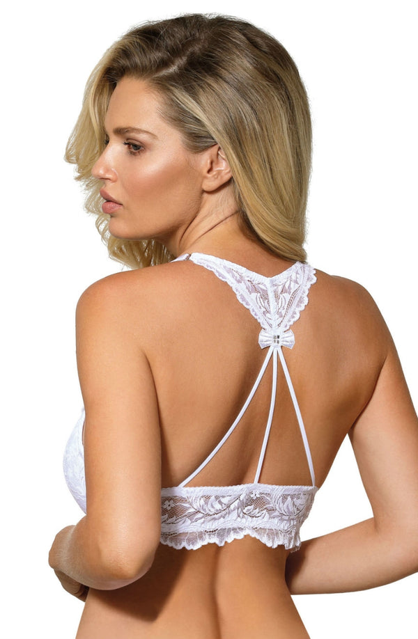 roza sefia white push up bra back detail