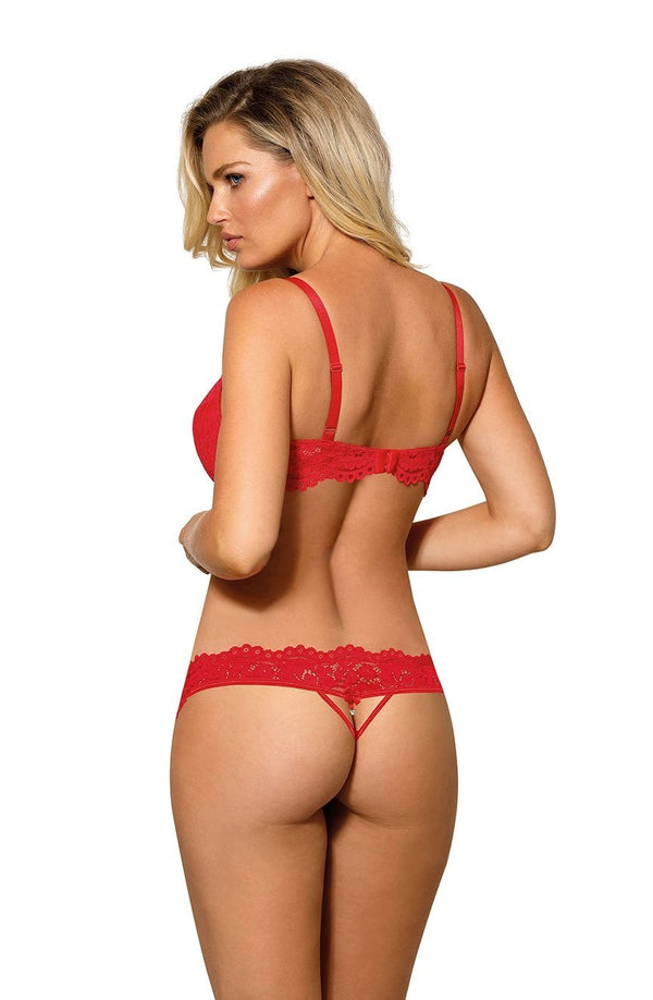 Roza Newia Red Thong Back