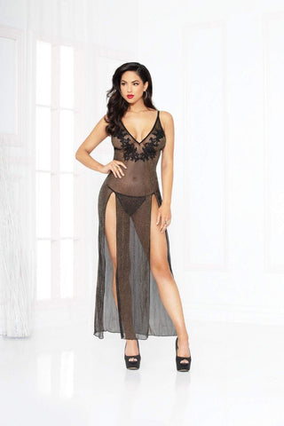 seven til midnight Seven til Midnight Chemise UK 6-8 / Black All That Glitters Gown Set Black