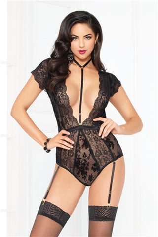seven til midnight Seven til Midnight Teddy UK 6-8 / Black Simply Gorgeous Black Teddy