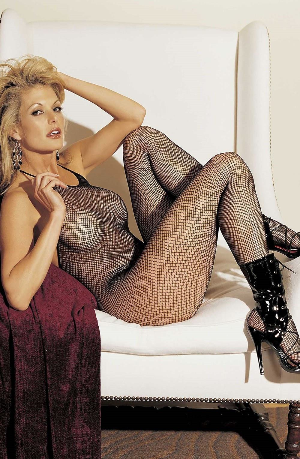 Shirley of Hollywood Shirley of Hollywood Bodystocking One Size UK 8-14 / Black SOH 90025 Hot Halterneck Bodystocking Black