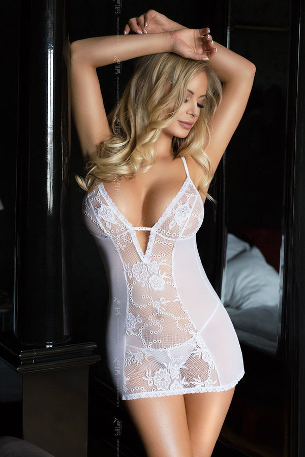 softline softline chemise UK 8-12 / White White Chemise Romantic Collection