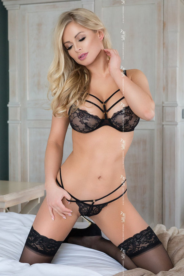 softline softline lingerie set UK 6-8 / Black Black Lace Bra Set