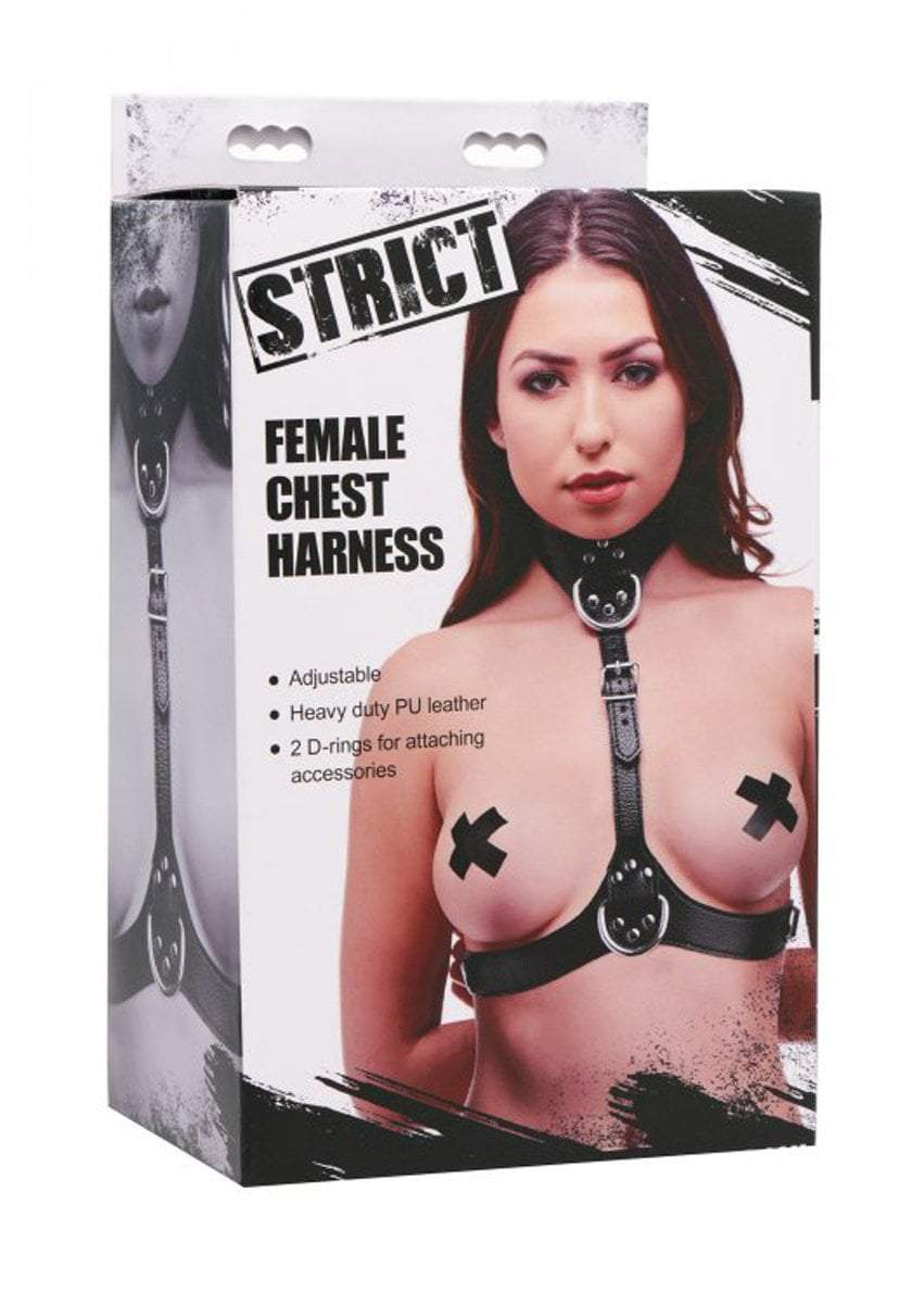 Strict Bondage Harness Black Female Chest Harness